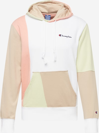 Bluză de molton Champion Authentic Athletic Apparel pe maro cămilă / verde pastel / portocaliu piersică / alb, Vizualizare produs