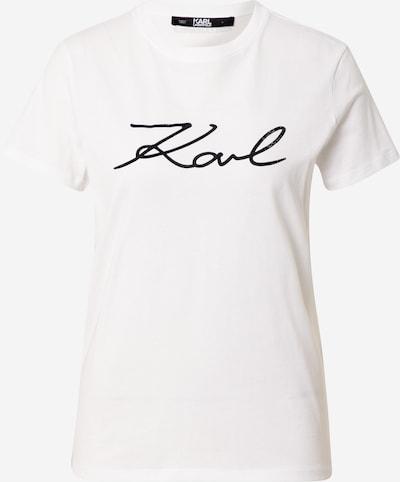 Karl Lagerfeld T-shirt en blanc, Vue avec produit
