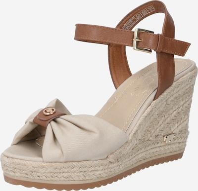 TOM TAILOR Páskové sandály - krémová / karamelová, Produkt