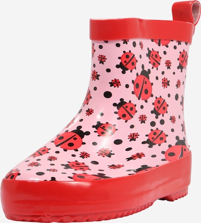 PLAYSHOES Rubber boot in Pink / Light red / Black, Item view