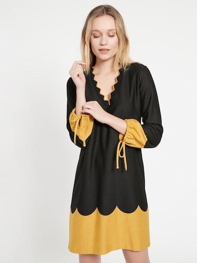 Ana Alcazar Kleid 'Benea' in gelb / schwarz, Modelansicht