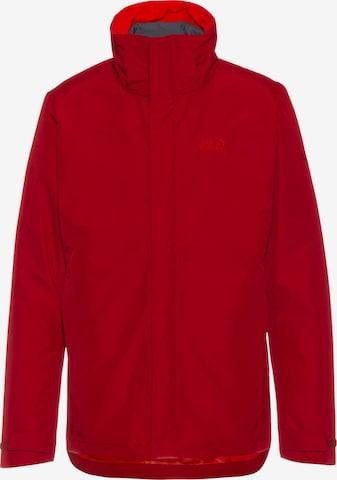 JACK WOLFSKIN Outdoor jacket 'Stirling Sky' in Red