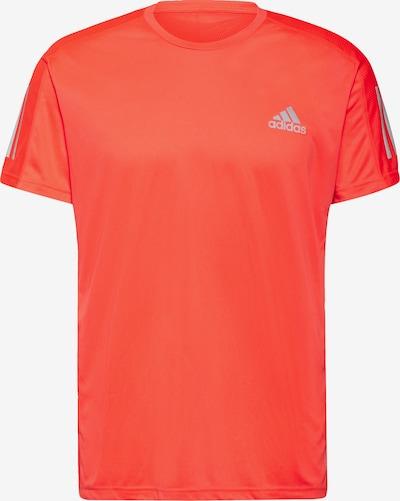 ADIDAS PERFORMANCE T-Shirt 'Own the Run' in grau / orangerot, Produktansicht
