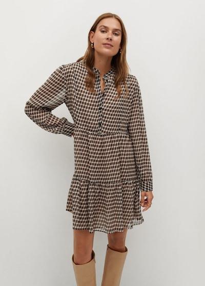 MANGO Kleid 'Viena' in beige / braun / dunkelbraun, Modelansicht
