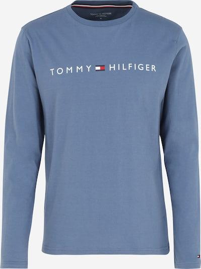 Tommy Hilfiger Underwear Potkošulja 'CN LS Tee Logo' u mornarsko plava / golublje plava / crvena / bijela, Pregled proizvoda