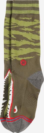 Stance Sportsocken 'WARBIRD' in dunkelgrau / grün / khaki / rot / weiß, Produktansicht