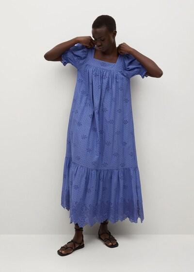 MANGO Šaty 'Nonna' - modrá, Model/-ka