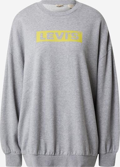 LEVI'S Sportisks džemperis, krāsa - dzeltens / raibi pelēks, Preces skats