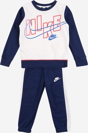 Nike Sportswear Set in de kleur Donkerblauw / Lichtrood / Wit, Productweergave