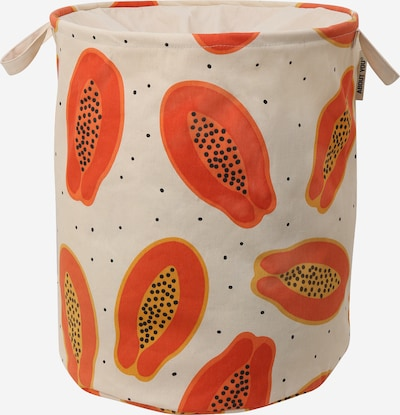 ABOUT YOU Wäschekorb 'Comfy L' (46 L x 46 B x 57 H) in beige / orange, Produktansicht