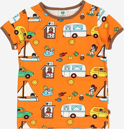 Småfolk Shirt in de kleur Lichtblauw / Bruin / Groen / Sinaasappel / Wit, Productweergave