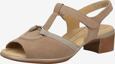 ARA Sandale in hellbeige / silber, Produktansicht