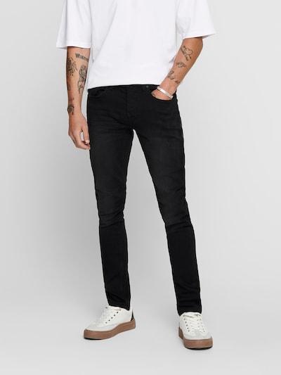 Jeans 'LOOM' Only & Sons pe negru denim, Vizualizare model