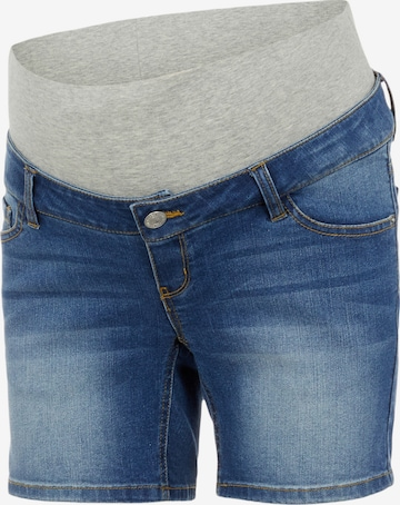 Pieces Maternity Jeans 'Lila' in Blue
