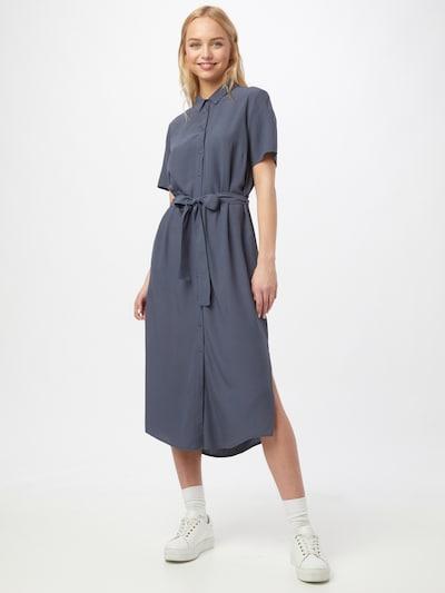 PIECES Kleid 'CECILIE' in taubenblau, Modelansicht