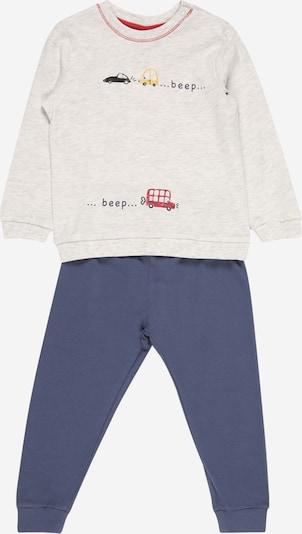OVS Schlafanzug in taubenblau / honig / hellgrau / dunkelrot, Produktansicht