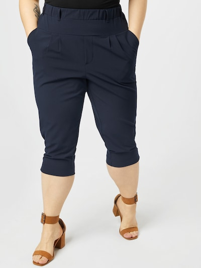 KAFFE CURVE Kalhoty 'Jia' - marine modrá, Model/ka
