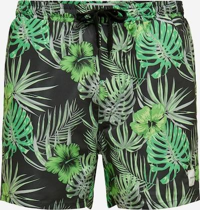 Only & Sons Plavecké šortky - světle šedá / zelená / černá, Produkt