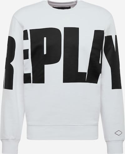REPLAY Sudadera en negro / blanco, Vista del producto