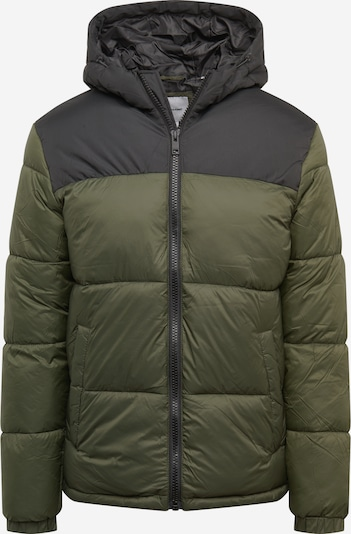 Žieminė striukė iš JACK & JONES , spalva - rusvai žalia / juoda, Prekių apžvalga