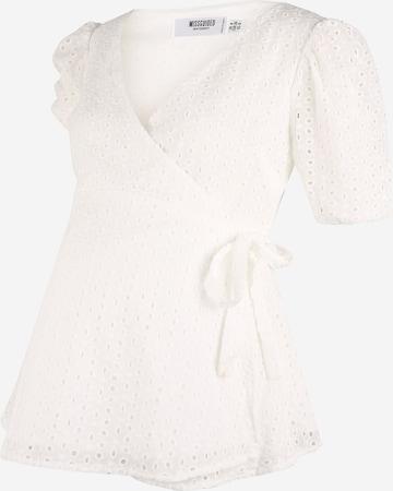 Camicia da donna di Missguided Maternity in bianco
