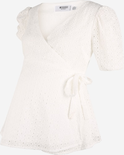 Missguided Maternity Chemisier en blanc, Vue avec produit