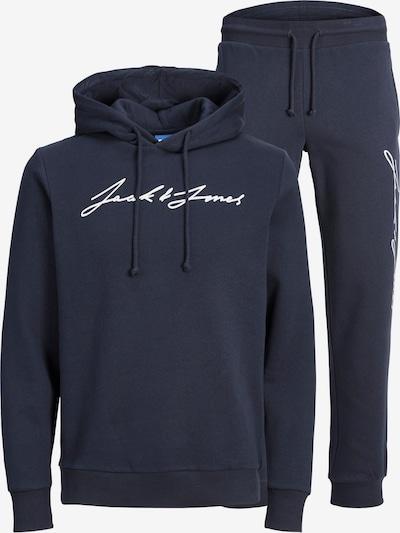 JACK & JONES Jogging komplet 'Freddie' u mornarsko plava / bijela, Pregled proizvoda