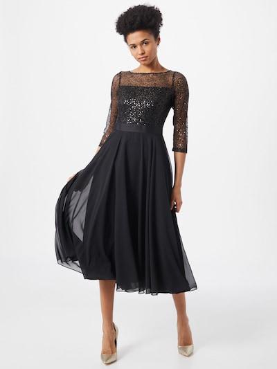 SWING Večerné šaty - čierna / strieborná, Model/-ka
