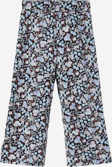 NAME IT Pantalon en bleu clair / marron / noir / blanc, Vue avec produit