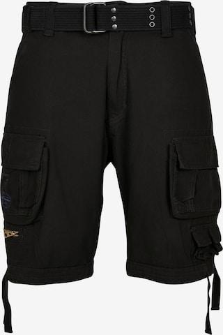 Brandit Shorts 'Savage Vintage' in Schwarz
