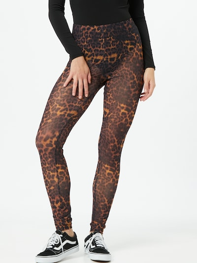 ONLY Leggings 'BELLE' in braun / schwarz, Modelansicht