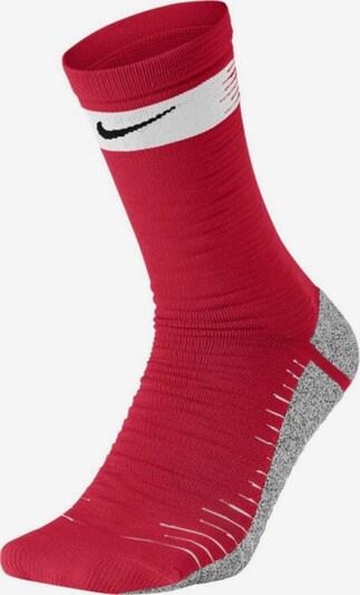 NIKE Socken in graumeliert / rot / weiß, Produktansicht