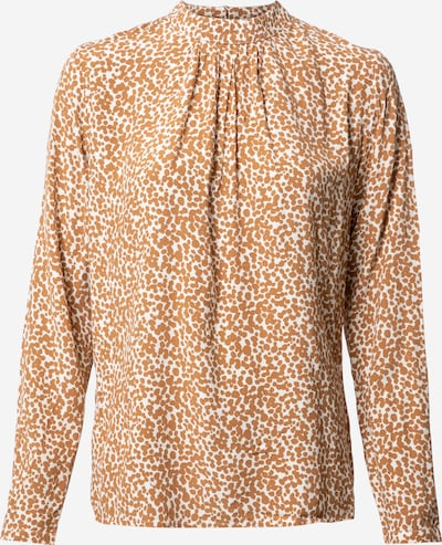 Esprit Collection Blus i karamell / vit: Sedd framifrån