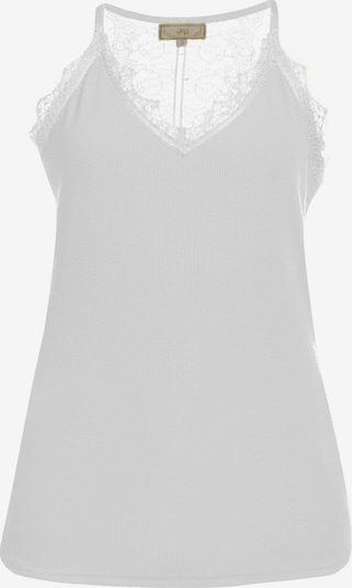 MYMO Top in de kleur Wit: Vooraanzicht