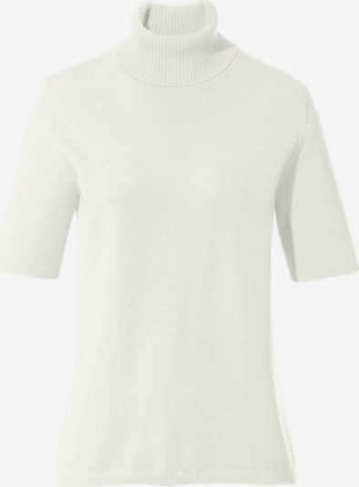 Peter Hahn Kurzarmpullover Rollkragen-Pullover aus 100% Premium-Kaschmir in weiß, Produktansicht