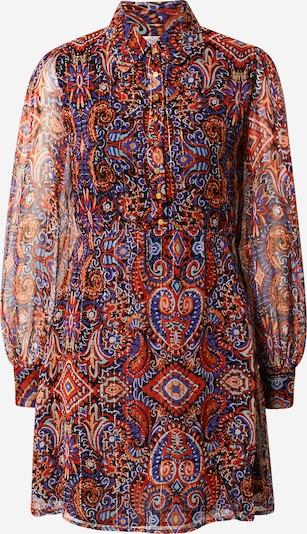 Rochie tip bluză 'THOR ROBE' Derhy pe auriu / mov închis / portocaliu piersică / roșu / negru, Vizualizare produs