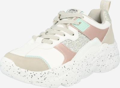 ekrü / rózsa / fehér ONLY Rövid szárú edzőcipők 'SANNA', Termék nézet