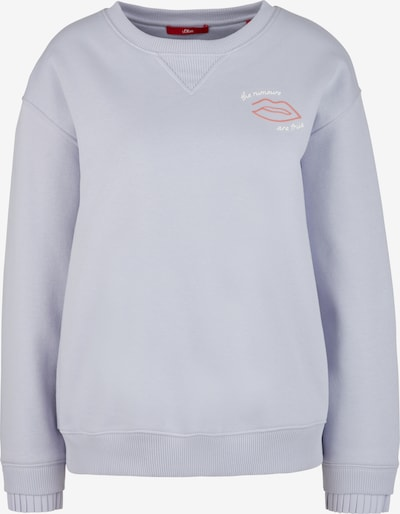 s.Oliver Sweatshirt in Lilac / Pastel red / White, Item view