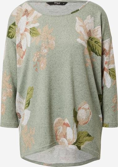 ONLY Shirt 'Elcos' in beige / grün / mint / weiß, Produktansicht