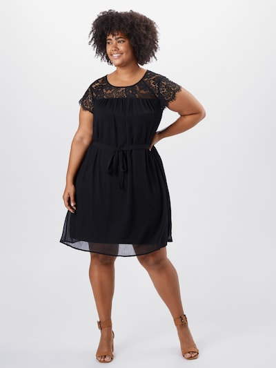 Junarose Kleid in schwarz, Modelansicht