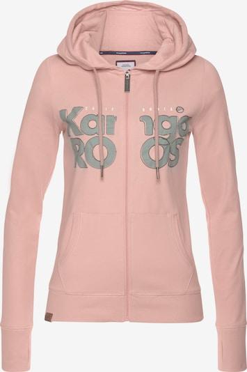 KangaROOS Zip-Up Hoodie in Grey / Pink / White, Item view