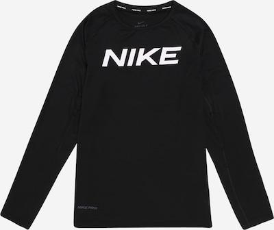 NIKE Sweat de sport en noir / blanc, Vue avec produit