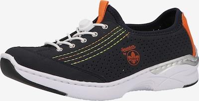 RIEKER Sportieve veterschoen in de kleur Sinaasappel / Zwart / Wit, Productweergave