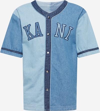 Karl Kani Hemd in blue denim / hellblau / dunkelblau, Produktansicht