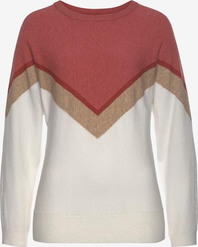 TAMARIS Sweater in Beige / Red / White, Item view