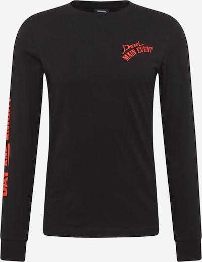 DIESEL Shirt 'DIEGOS' in de kleur Oranjerood / Zwart, Productweergave