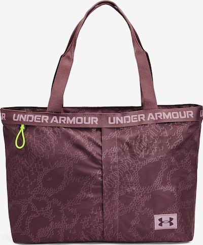 UNDER ARMOUR Sporttasche in aubergine / weiß, Produktansicht