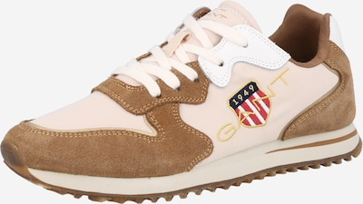 Sneaker low 'Beja' GANT pe albastru / maro / maro cappuccino / auriu / roșu, Vizualizare produs