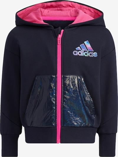 ADIDAS PERFORMANCE Спортна жилетка с качулка в тъмносиньо / розово, Преглед на продукта