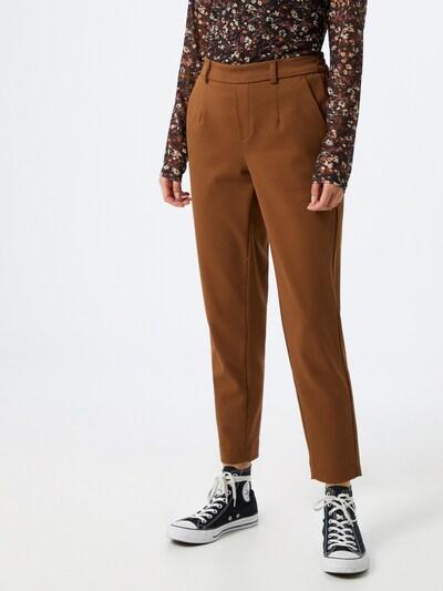 OBJECT Pantalon 'OBJLisa' en marron, Vue avec modèle